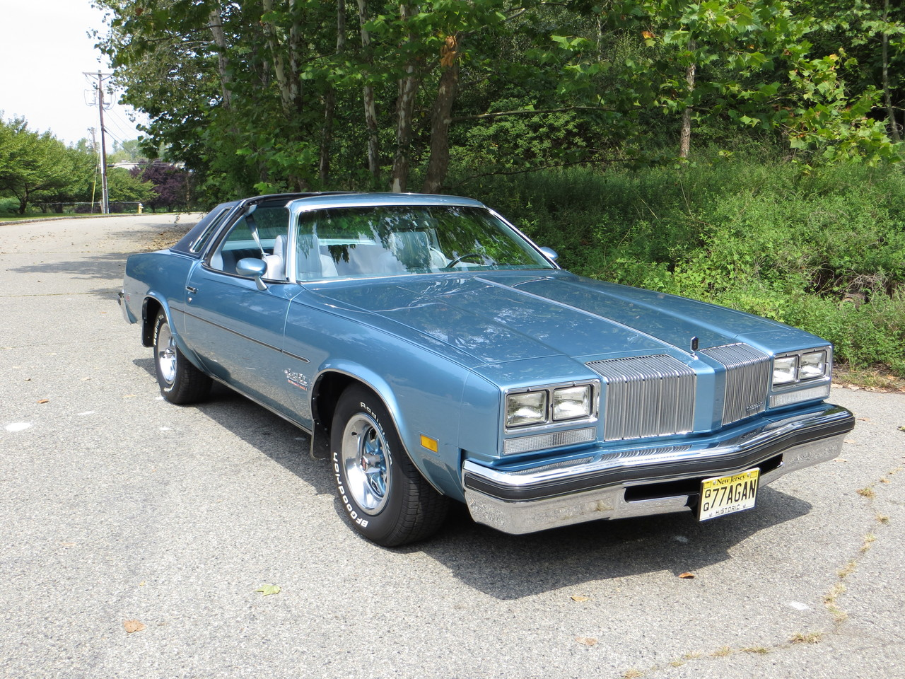 big blue 1977 cutlass salon oldsmobile photes