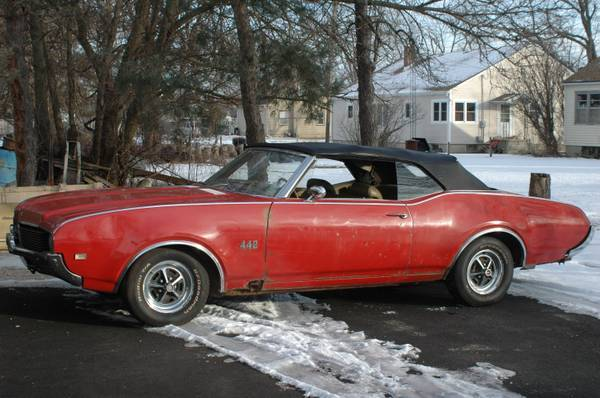 1969 Cutlass 442 Convertible Barn Find Garden Prairie Il