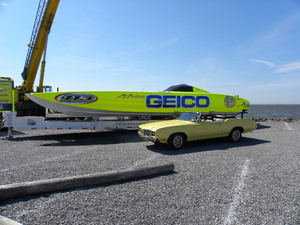 Miss Geico & My cutlass