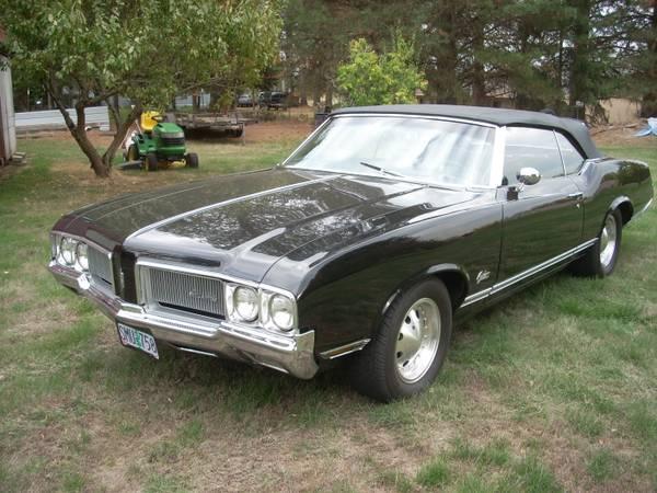 1970 cutlass convertable black on black