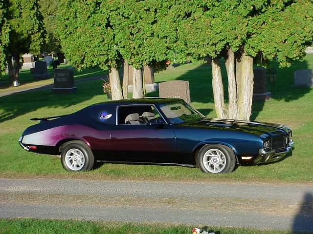 One of a kind 1971 Oldsmobile Cutlass-S Holiday Coupe