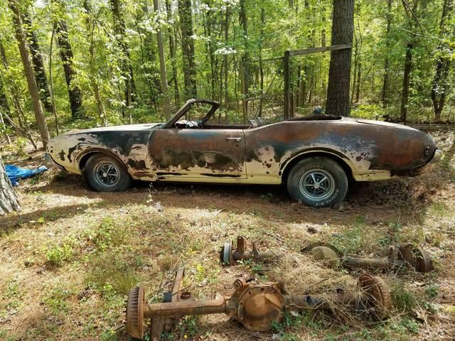 1969 olds cutlass convertible project car