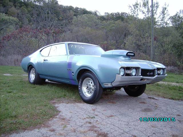 1968 olds 442 drag car