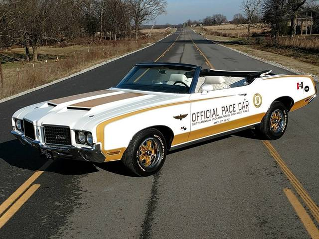 1972 Oldsmobile Cutlass convertible Indianapolis Pace car